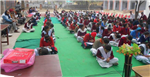 Students participating in GK Quiz